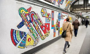 Paolozzi mosaics at Tottenham Court Road station.