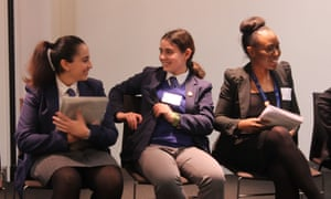 Students from Dunraven School accompanied their teachers to the conference and explained what made them choose the subject.