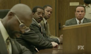 The People v OJ Simpson: American Crime Story, featuring Cuba Gooding Jr as Simpson, centre.