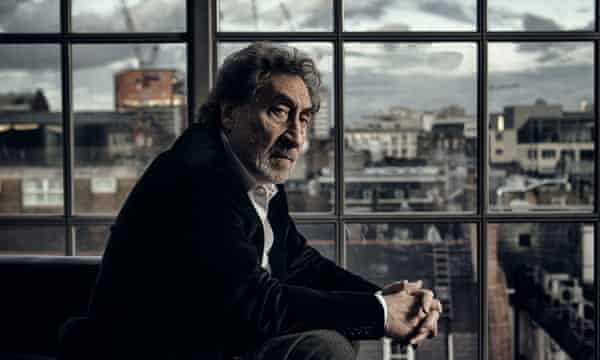 Howard Jacobson, photographed at his home in London.