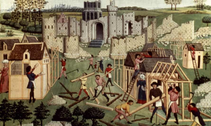Building houses in a medieval town: an illumination from a 15th-century French manuscript. Derek Keene studied the metropolis in different periods and countries.