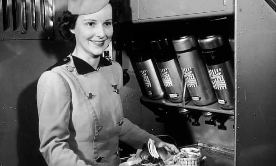 Air hostess: one of the occupations requiring an untold amount of patience.