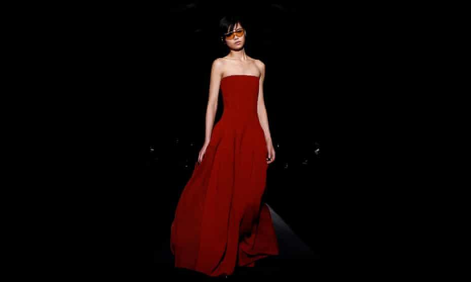 Model in a dress