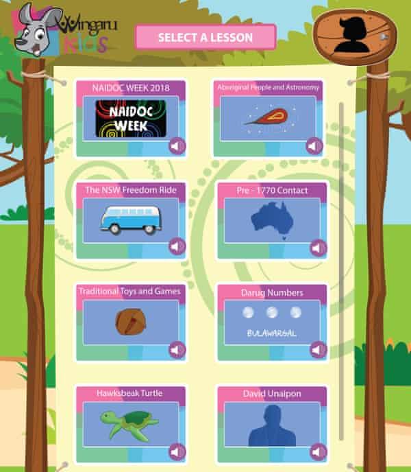 Wingaru kids student menu
