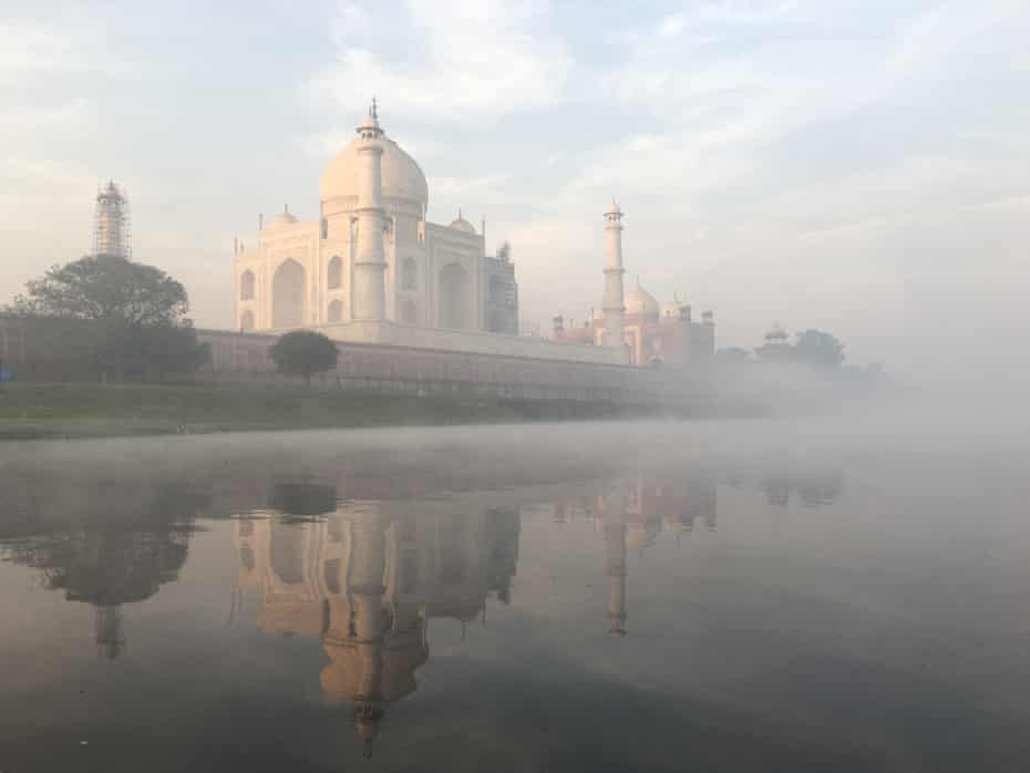 The Taj Mahal at dawn