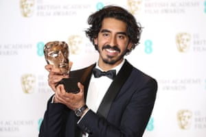 Dev Patel, winner of the best supporting actor Bafta for Lion.