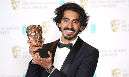 Dev Patel, with his Bafta for Lion