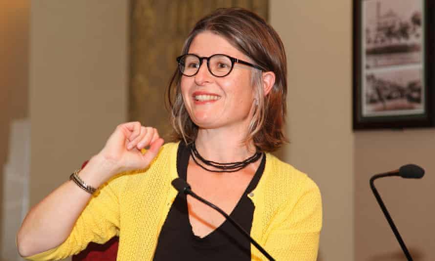 Tegan Bennett Daylight speaking in Katoomba, NSW.