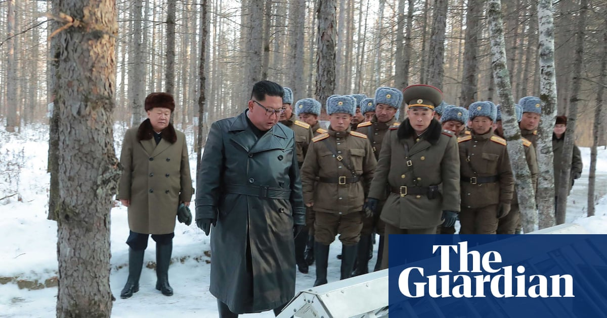 Kim Jong-un rides to sacred peak on white horse – in pictures