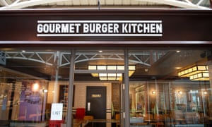 The Gourmet Burger Kitchen in Windsor, Berkshire which reopened for takeaways and deliveries in June following the easing of the Coronavirus lockdown rules