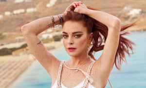 Lindsay Lohan in a promotional image for Lindsay Lohan's Beach Club.