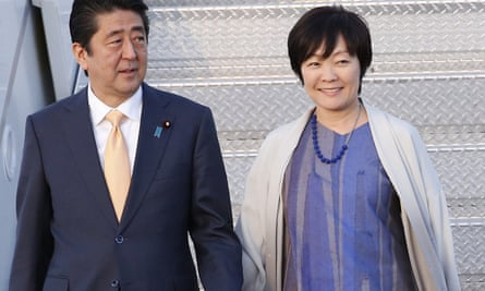 Japan's prime minister Shinzo Abe and his wife Akie