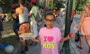 A Syrian girl in Kos.