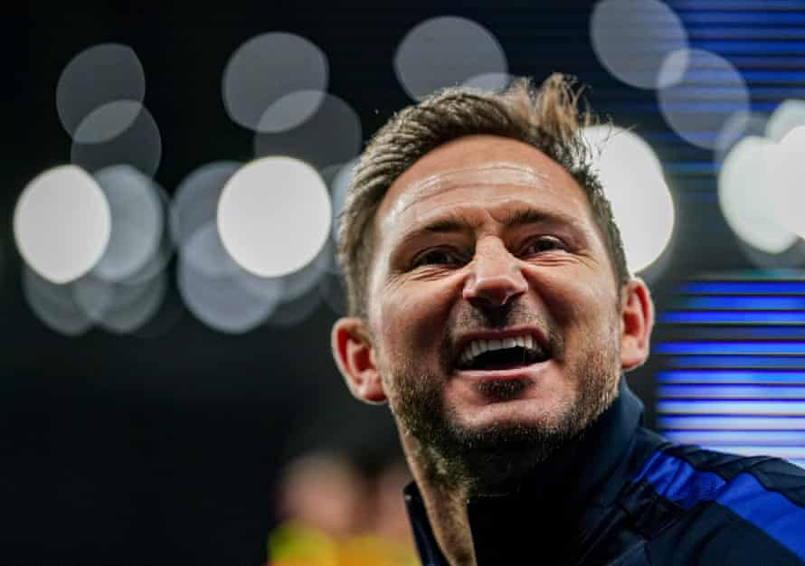 Chelsea manager Frank Lampard celebrates after the win over Tottenham