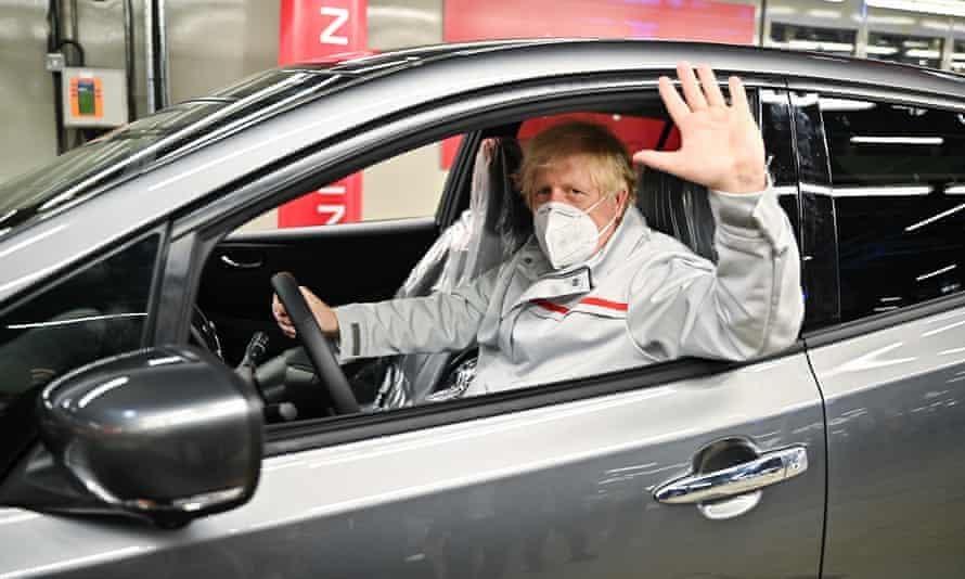 Boris Johnson visiting the Sunderland plant