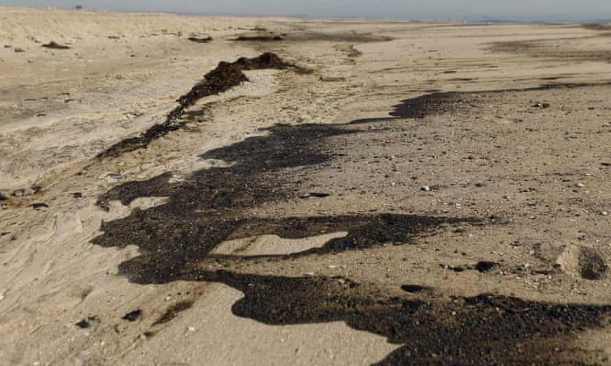 The spill comes three decades after a major oil leak hit the same stretch of Orange county coast.