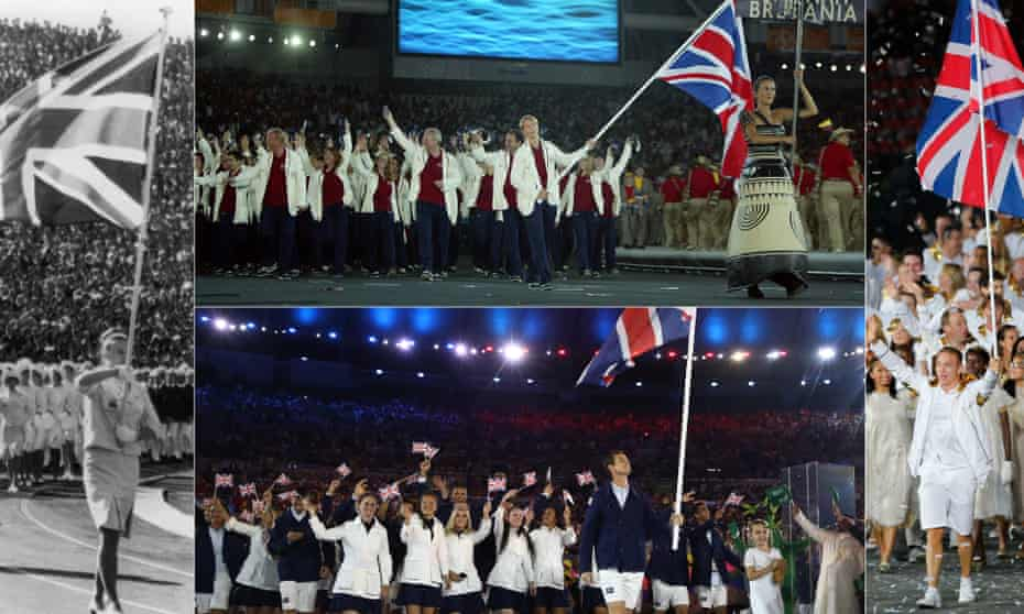 Clockwise from left: Anita Lonsbrough in Tokyo in 1964; Kate Howey in Athens in 2004; Chris Hoy in London in 2012; Andy Murray in Rio in 2016.