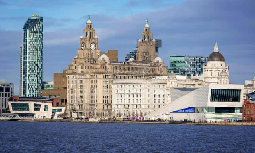The 'three graces ' on Liverpool waterfront.
