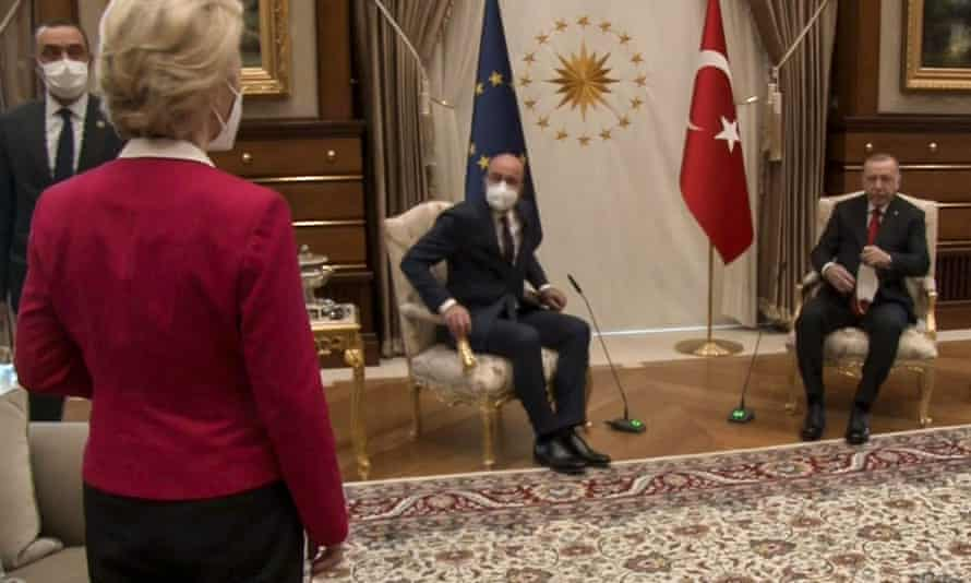 Ursula von der Leyen was left without a seat at a meeting in Turkey.