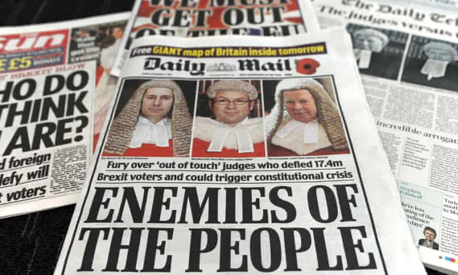 Newspapers with anti-Brexit headlines