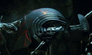 Kylo Ren's cracked helmet.