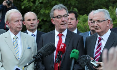 Ulster Unionist Party leader Mike Nesbitt addresses the media at the Park Avenue Hotel in east Belfast following a crunch meeting where senior members of the UUP voted to walk away from Northern Ireland's power-sharing government.