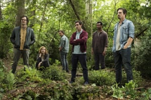 Bill Hader, Jessica Chastain, James McAvoy, James Ransone, Isaiah Mustafa and Jay Ryan in It Chapter Two.