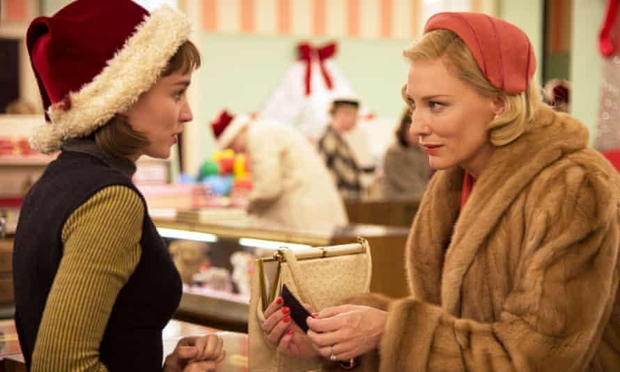 Rooney Mara and Cate Blanchett in Carol (2015).