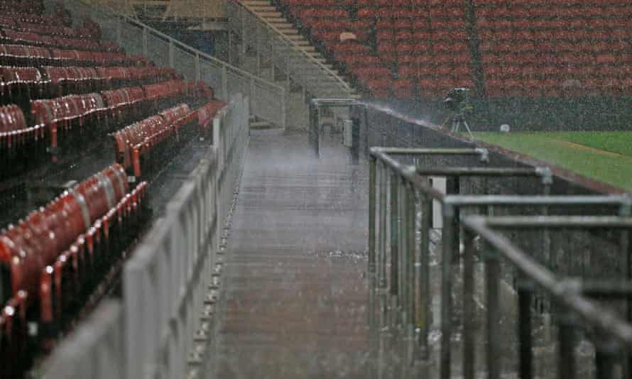 Rainy stadium