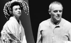 Antony Hopkins in his last stage play, M Butterfly, in 1989.