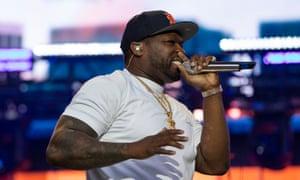 Growling … guest star 50 Cent.