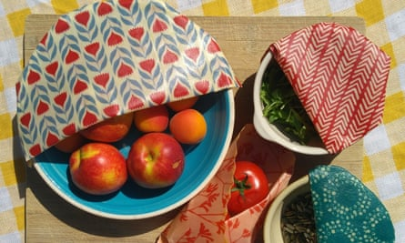 Kath Austin's BeeBee wraps which are reusable food wraps made from beeswax