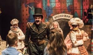 Suitably pantomimic … Steffan Lloyd Owen as Brundibár.