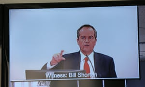 Opposition leader Bill Shorten gives evidence at the royal commission into trade union governance and corruption in Sydney on Wednesday 8 July.
