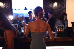 Renée Zellweger at the Beverly Hilton hotel bar
