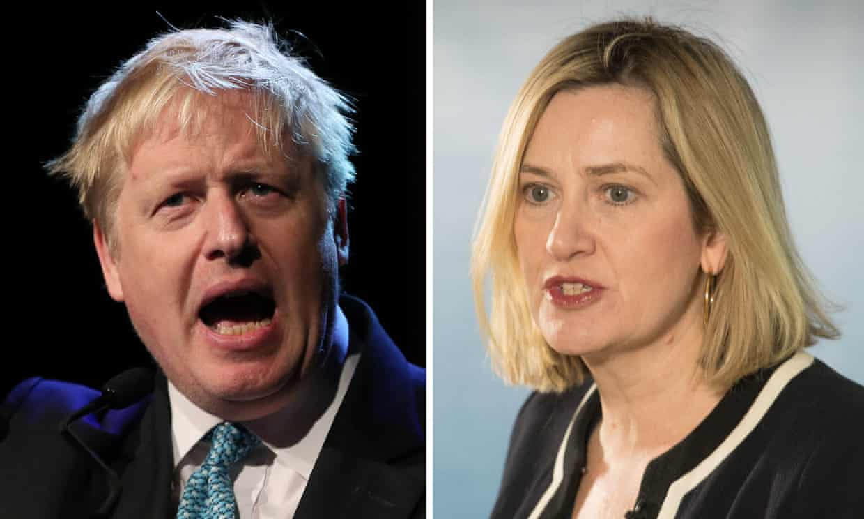 Boris Johnson and Amber Rudd.