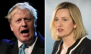 Rudd (right) said she would stop short of voting in support of a no-confidence motion against a government led by Johnson (left).