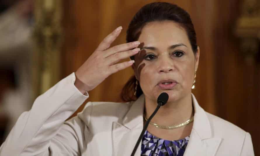 Guatemalan vice-president Roxana Baldetti.