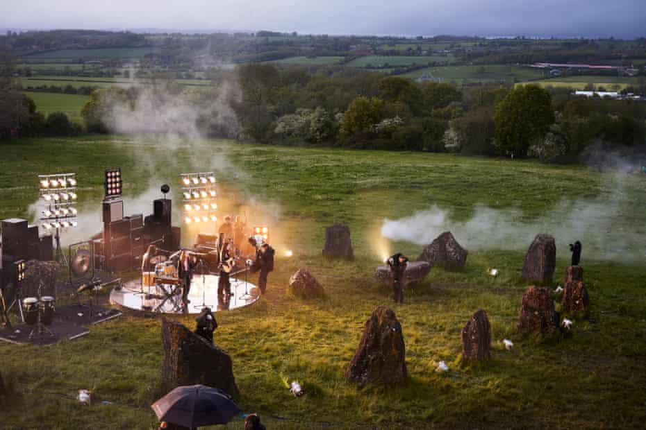 Haim at the Stone Circle, shot from a tall monopod.