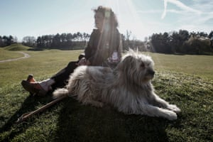 Julie-Lou Dubreuilh with her dog