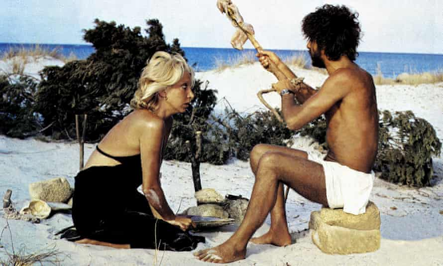 Mariangela Melato and Giancarlo Giannini in Swept Away