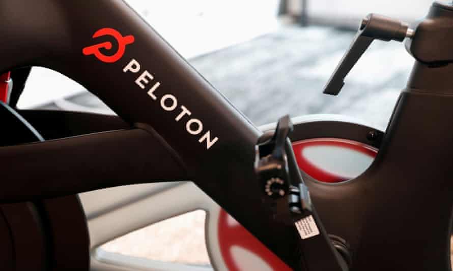 A Peloton exercise bike.