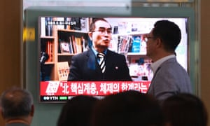 Thae Yong-ho, a minister at the North Korean Embassy in London, who defected to South Korea last week.