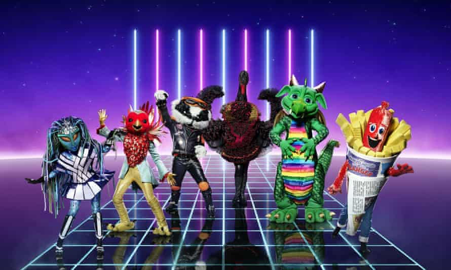 Alien, Robin, Badger, Swan, Dragon, Sausage, some of the stars of The Masked Singer