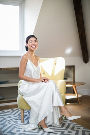 Isabelle Landicho in her wedding dress