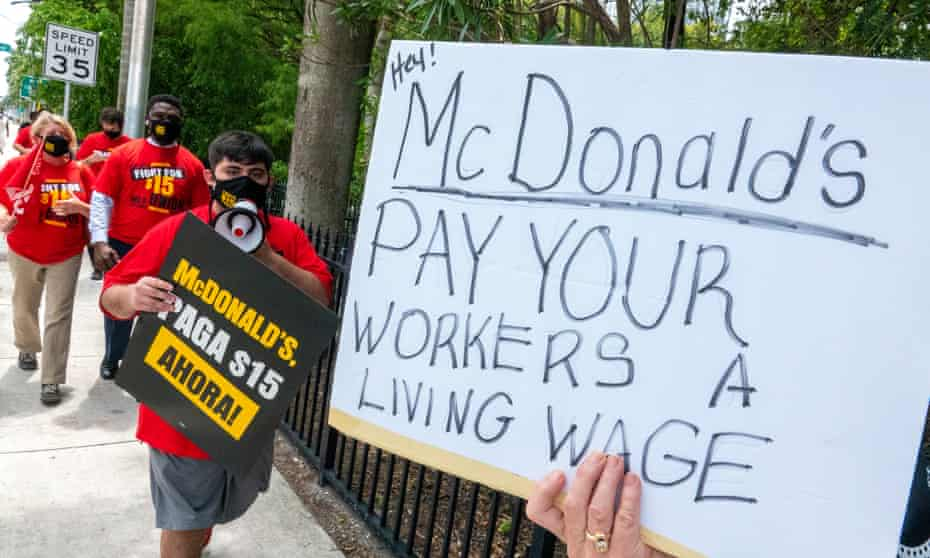 'It's worth remembering that the federal minimum wage would be $24 an hour today had it kept pace with worker productivity – rather than the $7.25 it's been since 2009.'