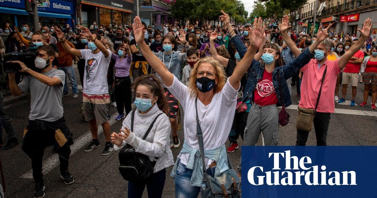 Protests in Madrid over coronavirus lockdown measures