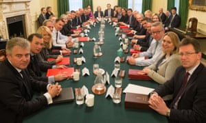 Prime Minister Theresa May leads her first cabinet meeting of the new year at 10 Downing street in central London.
