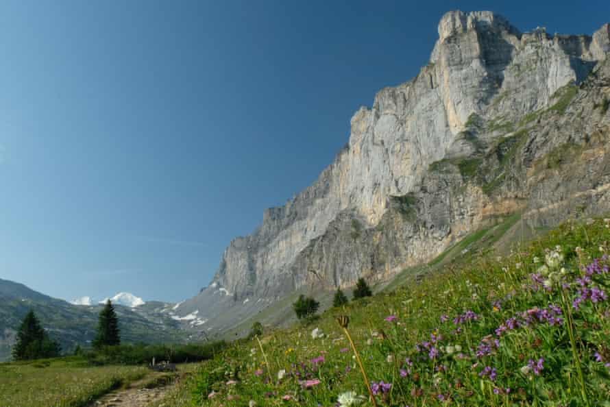 En route to Lac d'Anterne, Haut-Giffre, Haute-Savoie, French Alps.
