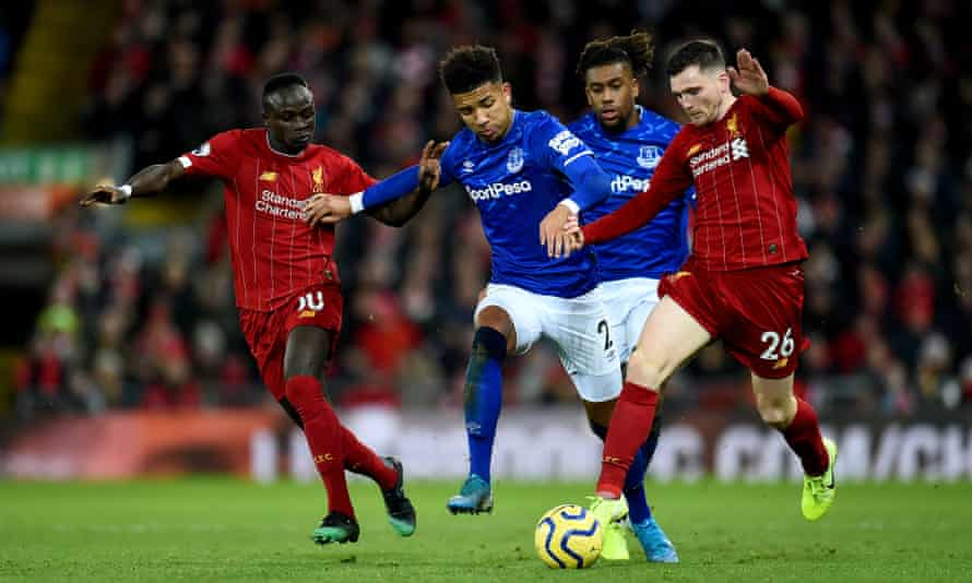 Liverpool in action against Everton in December's Premier League meeting.